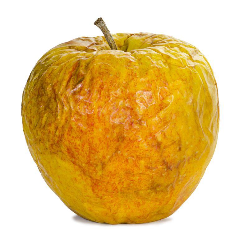 pomme peau abimee